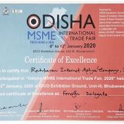 گواهی حضور نمایشگاه اودیشای هند